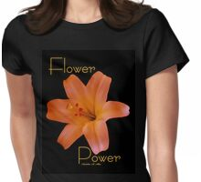Flower Power Lilly Womens Fitted T-Shirt