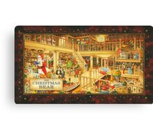 The Christmas Bear - Santa's Storeroom Canvas Print