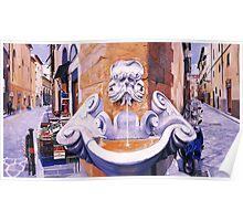 Piazza Frescobaldi Poster