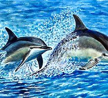 Hawaiian Dolphins By Yuriy B. by bihusyak