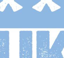 F--K DUKE - University of North Carolina Fan Shirt - Haters Gonna Hate - Censored Blue Box Version Sticker
