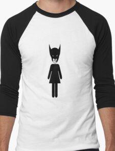 Wolverine Bathroom Sign Men's Baseball ¾ T-Shirt