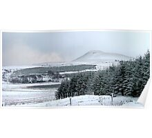 Falkland Hill in Winter Poster