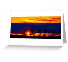 fire in the sky, Alberta Canada Greeting Card