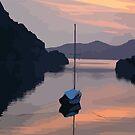 Boat At Bozburun At Sunset Vector Image by taiche