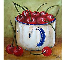 Cherries in cup Photographic Print