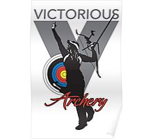 Victory Girl Grey Poster