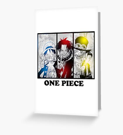 One Piece brothers - Sabo, Ace and Rufy  Greeting Card
