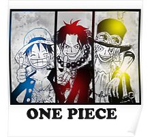 One Piece brothers - Sabo, Ace and Rufy  Poster