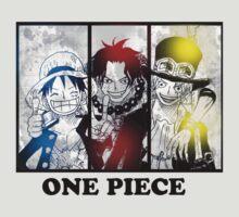 One Piece brothers - Sabo, Ace and Rufy  by SawakoMizu