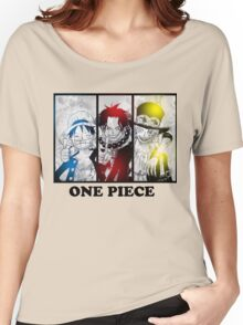One Piece brothers - Sabo, Ace and Rufy  Women's Relaxed Fit T-Shirt