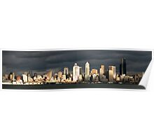 Seattle Skyline from Alki Poster