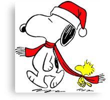 Christmas Snoopy Canvas Print