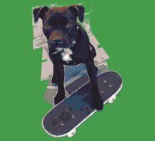 SK8 Staffy Dog Baby Tee