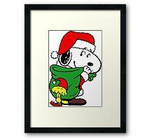 Christmas Snoopy Framed Print