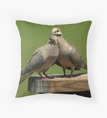 Two Doves Throw Pillow