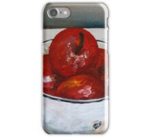 Bowl with apples iPhone Case/Skin