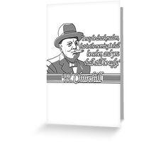 Churchill - Ugly Greeting Card