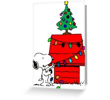 Christmas Snoopy  Greeting Card