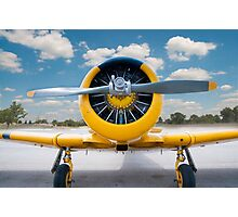 Yellow airplane Photographic Print