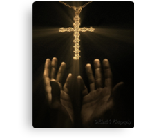 Reaching for salvation..... Canvas Print