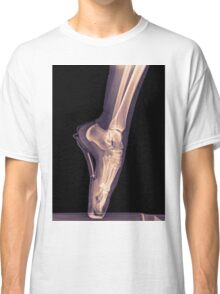 x-ray of a ballet dancer standing on pointe  Classic T-Shirt