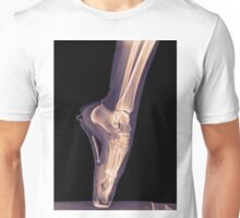 x-ray of a ballet dancer standing on pointe  Unisex T-Shirt