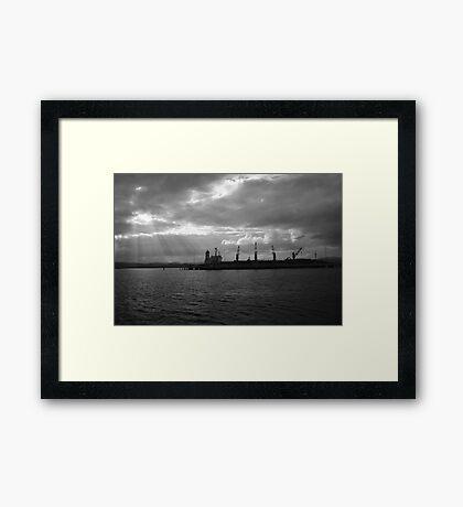 Woodchip #1 Framed Print
