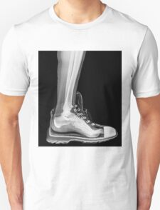 X-Ray of a foot and ankle in a running shoe Unisex T-Shirt