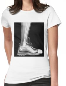 X-Ray of a foot and ankle in a running shoe Womens Fitted T-Shirt