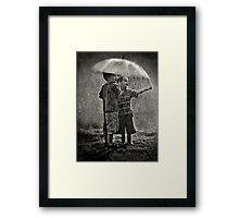 Sunshower Play Framed Print