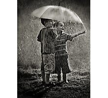 Sunshower Play Photographic Print