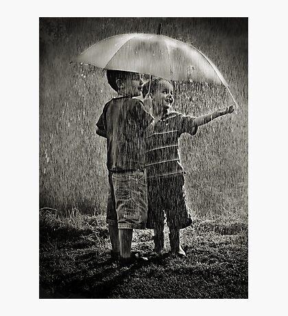 Sunshower Play Photographic Print