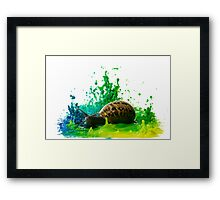 Snail in a paint Sculpture  Framed Print