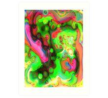 pinktagreen eye scream Art Print
