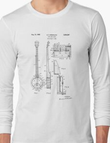 Long Neck Banjo patent from 1964 Long Sleeve T-Shirt