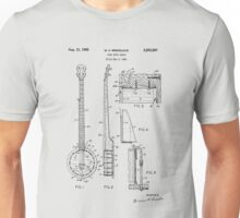 Long Neck Banjo patent from 1964 Unisex T-Shirt