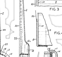 Long Neck Banjo patent from 1964 Sticker