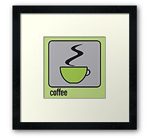 coffee green Framed Print