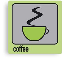 coffee green Canvas Print