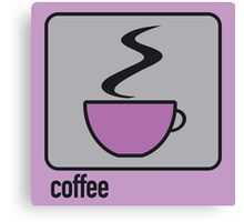 coffee purple Canvas Print