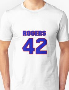 National football player Justin Rogers jersey 42 T-Shirt