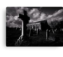 Dark clouds over Grave Yard Canvas Print