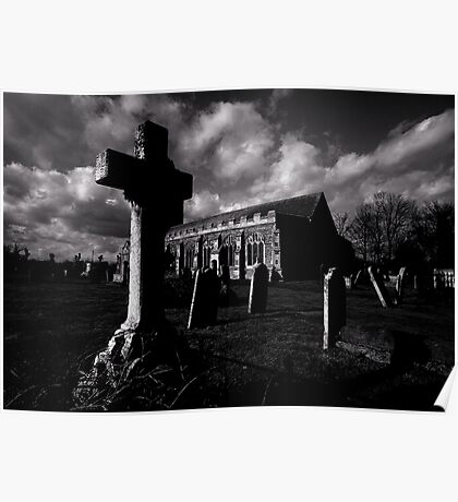 Dark clouds over Grave Yard Poster