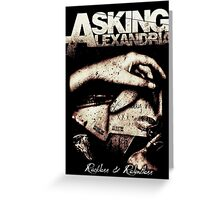 Asking Alexandria Reckless and Relentless Greeting Card