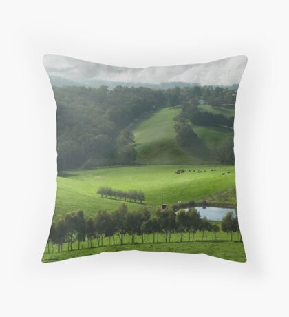 Adelaide Hill's in Green. Throw Pillow