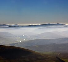 Misty Lanarkshire View by Tom Gomez
