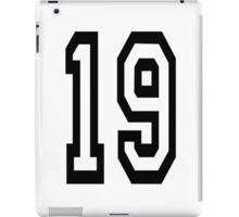 TEAM SPORTS, NUMBER 19, NINETEEN, NINETEENTH, Competition,  iPad Case/Skin