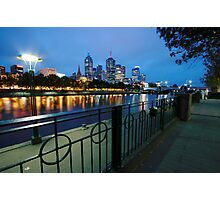 Melbourne by night....ish Photographic Print
