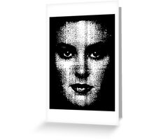the womans face Greeting Card